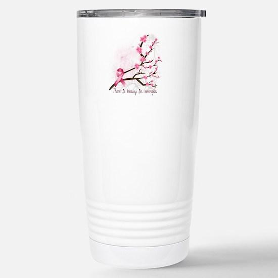 Breast Cancer Awareness Stainless Steel Travel Mug