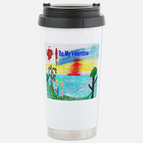 Kids Valentine Stainless Steel Travel Mug