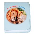 Eat Prey. Love. baby blanket