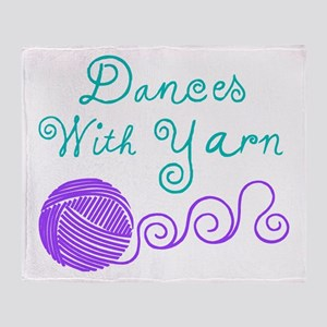 Dances with Yarn Throw Blanket