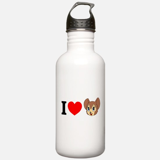 Cool White lion Water Bottle