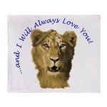 I Will Always Love You (alt) Throw Blanket