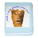 I Will Always Love You (alt) baby blanket