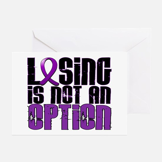 Losing Is Not An Option Pancreatic Cancer Greeting