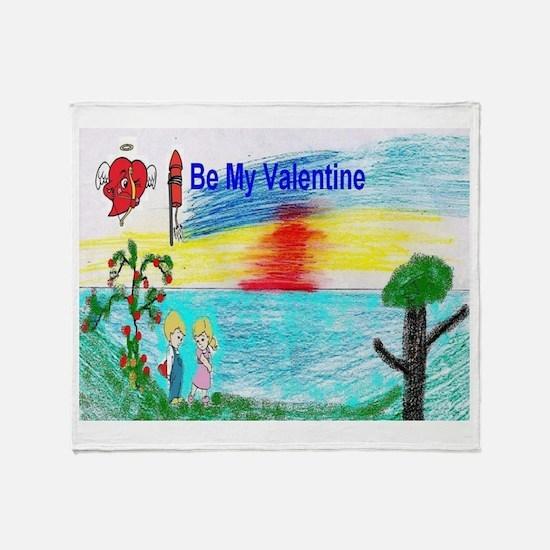 Kids Valentine Throw Blanket
