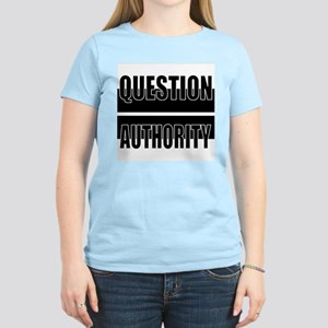 Question Authority Women's Pink T-Shirt