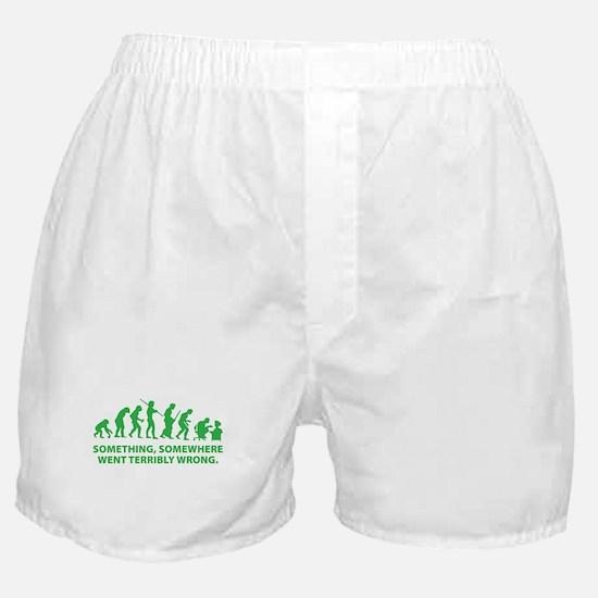 Evolution went wrong Boxer Shorts