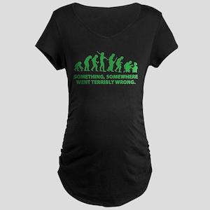 Evolution went wrong Maternity Dark T-Shirt
