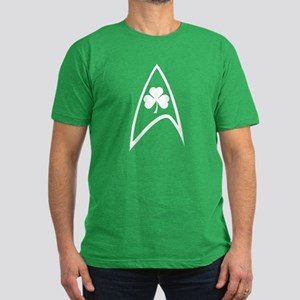 Irish Star Trek Shamrock Men's Fitted T-Shirt (dar
