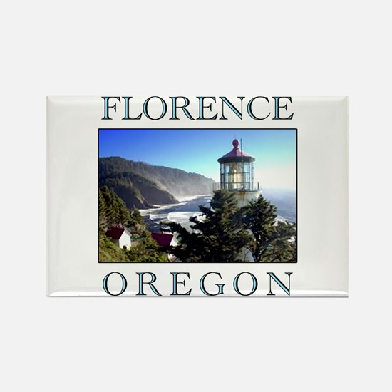Cute Lighthouse%3b lighthouse oregon Rectangle Magnet