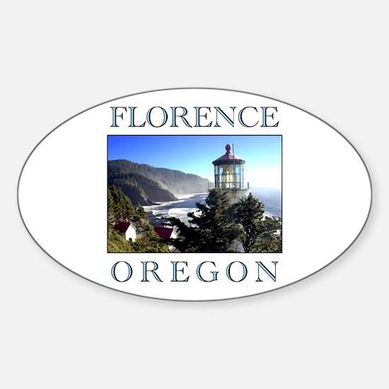 Cute Oregon beach Sticker (Oval)