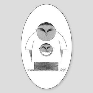 Happy Tee Sticker (Oval)