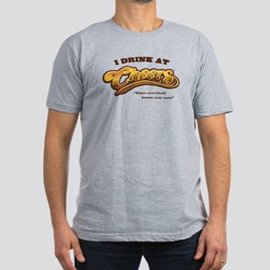 'I Drink At Cheers' Men's Fitted T-Shirt (dark)