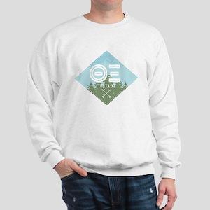 Theta Xi Mountain Diamond Blue Sweatshirt