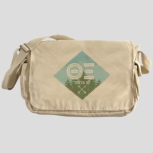 Theta Xi Mountain Diamond Blue Messenger Bag