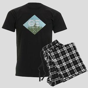 Theta Xi Mountain Diamond Blue Men's Dark Pajamas