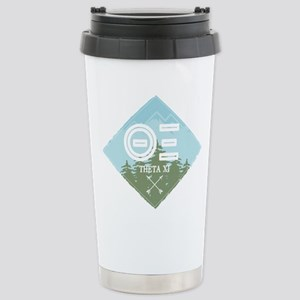 Theta Xi Mountain 16 oz Stainless Steel Travel Mug