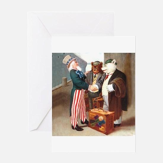 Roosevelt Bears Meet Uncle Sam Greeting Card