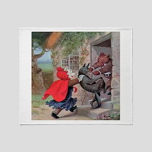 Roosevelt Bears Catch a Wolf Throw Blanket