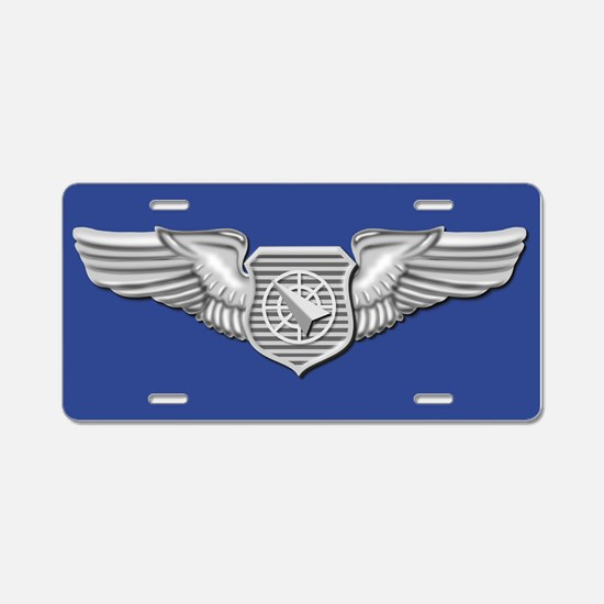 Air Weapons Officer Blue License Plate