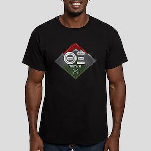 Theta Xi Mountain Diam Men's Fitted T-Shirt (dark)
