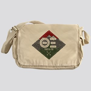 Theta Xi Mountain Diamond Messenger Bag