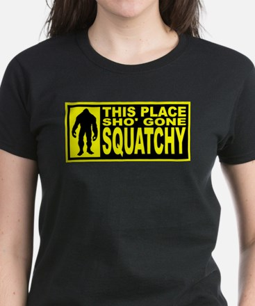 Gone Squatchy - Finding Bigfoot Women's Dark T-Shi