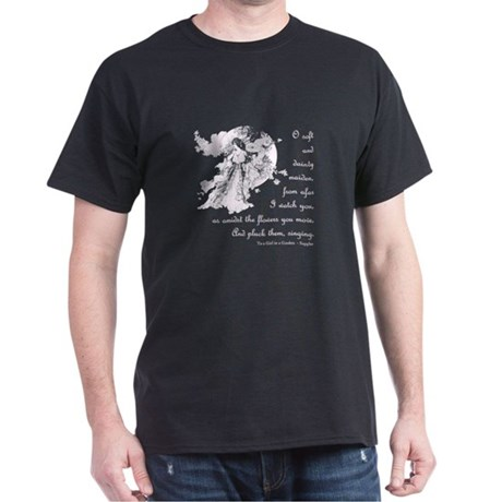 Girl in a Garden Dark T-Shirt