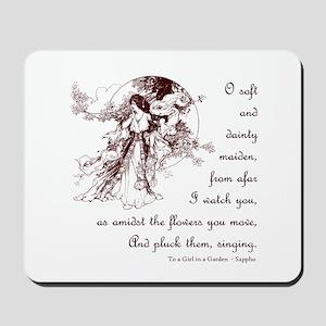Girl in a Garden Mousepad