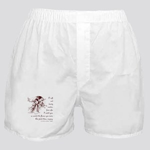 Girl in a Garden Boxer Shorts