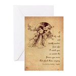 Girl in a Garden Valentine Greeting Cards (Pk of 1