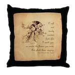 Girl in a Garden Throw Pillow