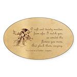 Girl in a Garden Sticker (Oval)