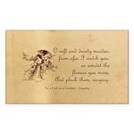Girl in a Garden Sticker (Rectangle 50 pk)