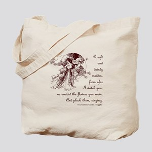 Girl in a Garden Tote Bag