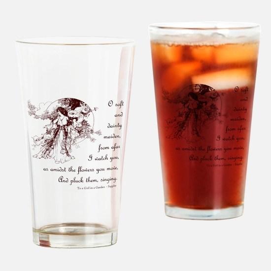 Girl in a Garden Drinking Glass