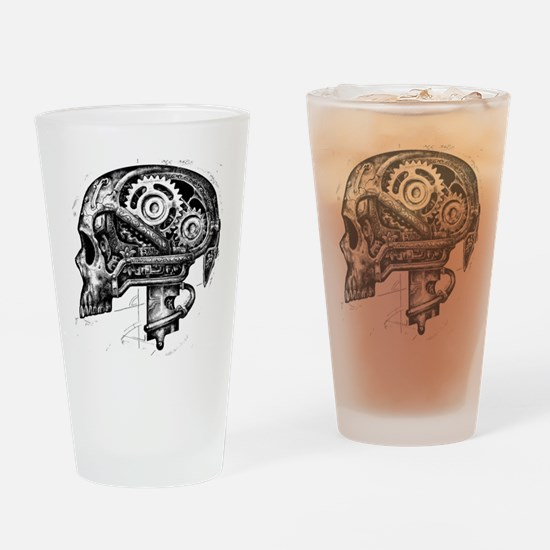 Unique Raven skull Drinking Glass