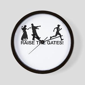 Raise the Gates Zombie Runner Wall Clock