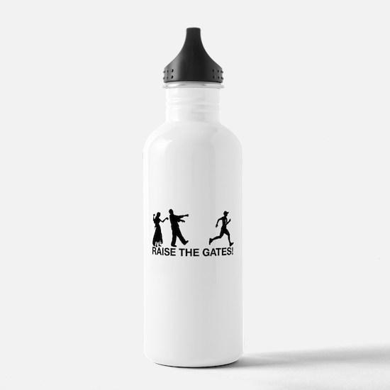 Raise the Gates Zombie Sports Water Bottle