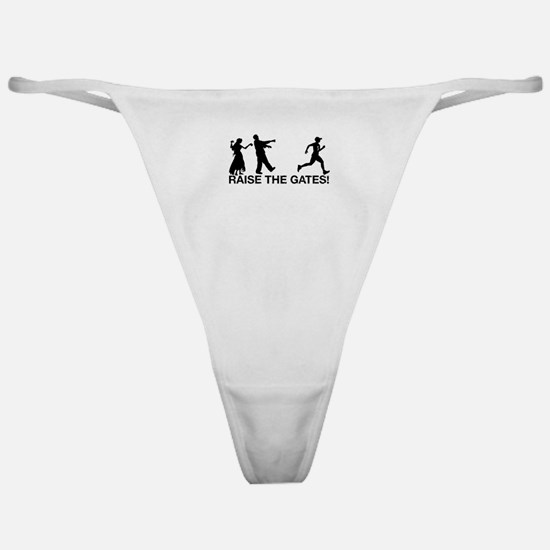 Raise the Gates Zombie Runner Classic Thong