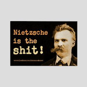 """Nietzsche Is The Shit!"" Rectangle Magnet"