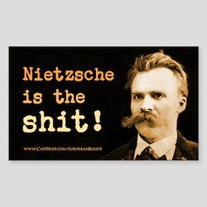 """Nietzsche Is The Shit!"" Sticker (Rectangle)"