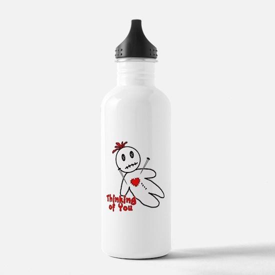 Anti Valentine Voodoo Doll Water Bottle