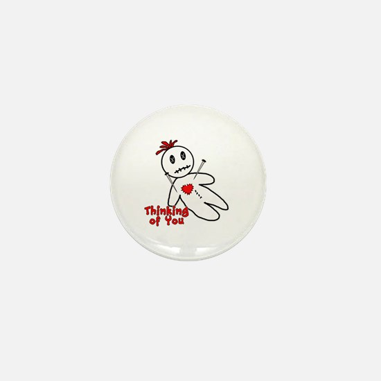 Anti Valentine Voodoo Doll Mini Button