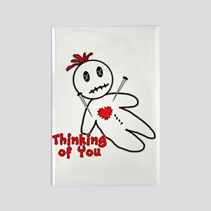 Anti Valentine Voodoo Doll Rectangle Magnet