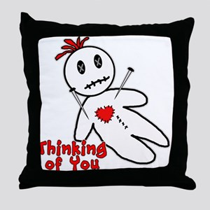 Anti Valentine Voodoo Doll Throw Pillow
