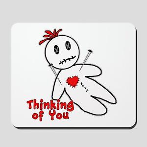 Anti Valentine Voodoo Doll Mousepad