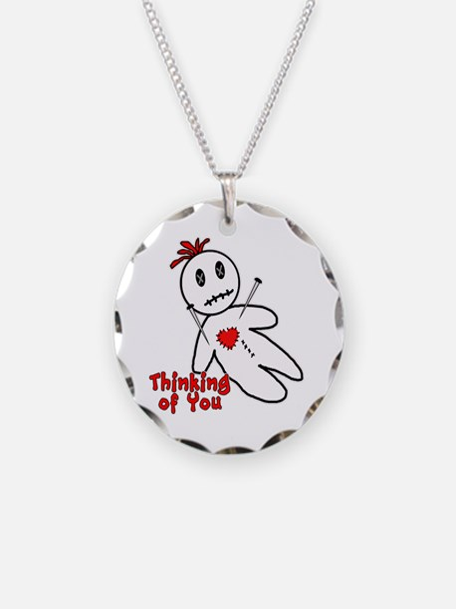 Anti Valentine Voodoo Doll Necklace