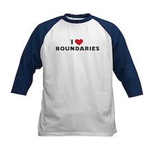 I Heart Boundaries Kids Baseball Jersey