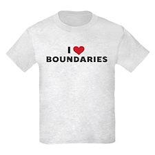 I Heart Boundaries Kids Light T-Shirt